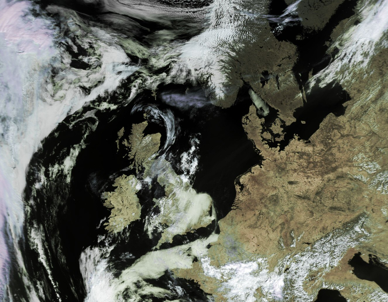 High resolution weather satellite images